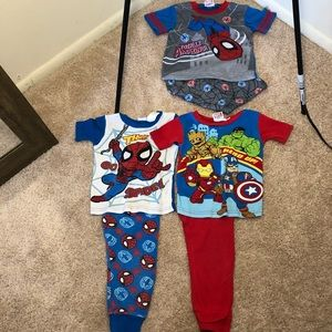 🆕 Toddler Boy's Marvel Comics Pajama Bundle